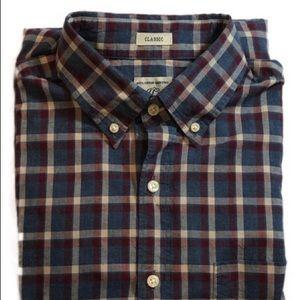Men's J. Crew Plaid Button Down Shirt Size Small